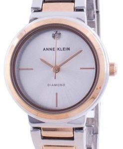 Anne Klein 진품 다이아몬드 3529SVRT 쿼츠 여성용 시계