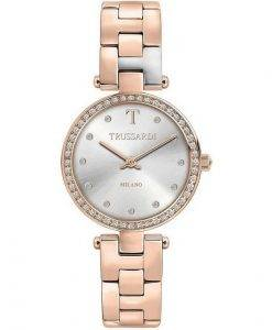 Trussardi T-Sparkling Milano 다이아몬드 악센트 쿼츠 R2453139504 여성용 시계